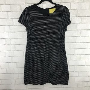 Maeve - Anthro Black & White Polka Dot Dress